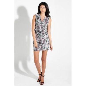 IRO Strom Sleeveless Wrap Dress in Abstract Print